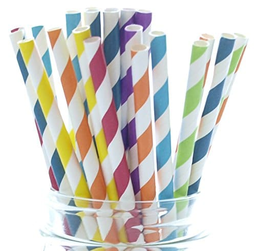 Photo of a container of paper straws.