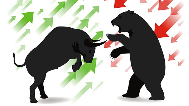 Diagram explaining the ups and downs of shares in Bear and Bull Markets