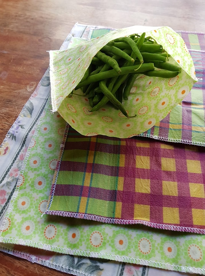 Photo of beeswax pouches for storing food without the need of cling wrap