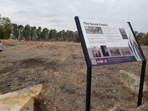 The site of the Green family at Winton Wetlands