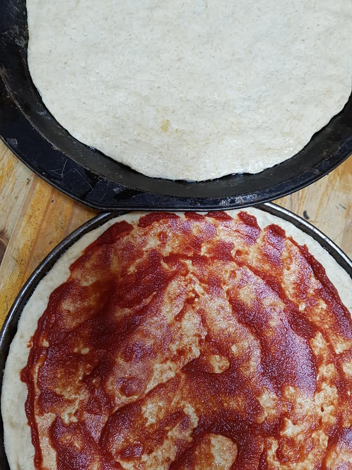 Home made pizza base