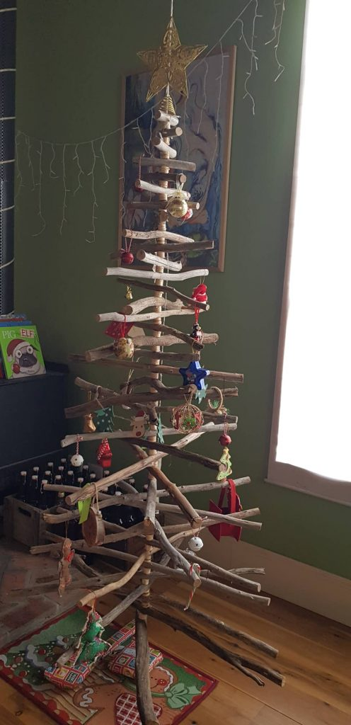The completed Christmas tree